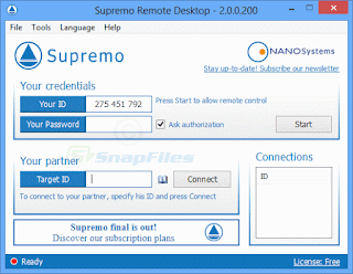 connect to remote computers مع برنامج Supremo