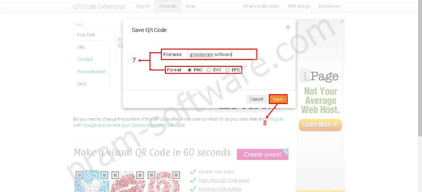 Save QR Code