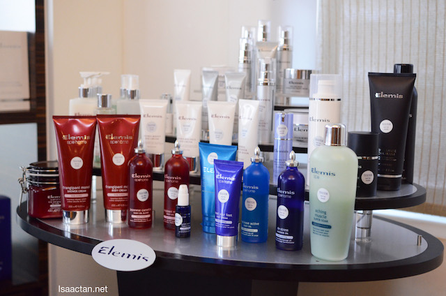 Elemis range of products used in Mandara Spa