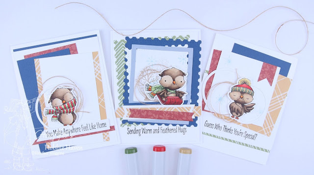 Heather's Hobbie Haven - Warm & Feathered Hugs Card Kit