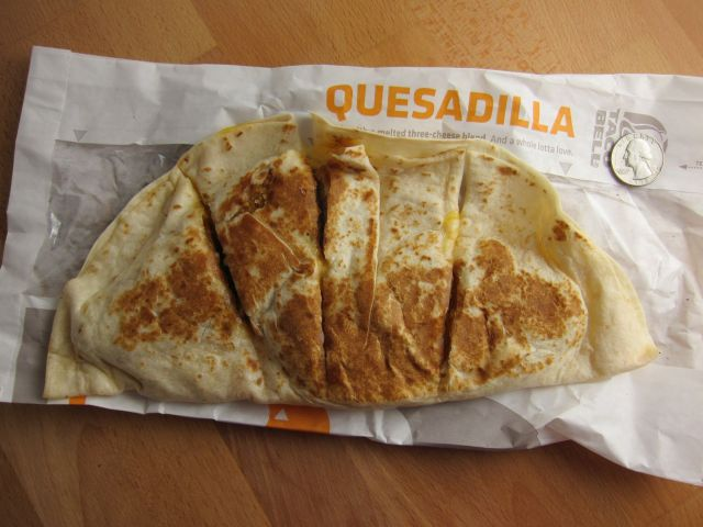 Review Taco Bell - Double Crispy Chicken Quesadilla -7479