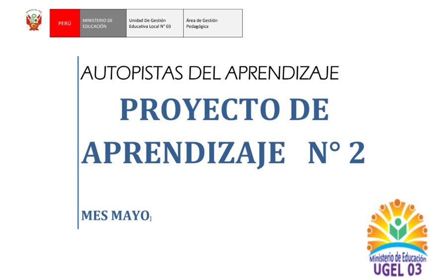 Proyectos de Aprendizaje para primaria (Mes de mayo)