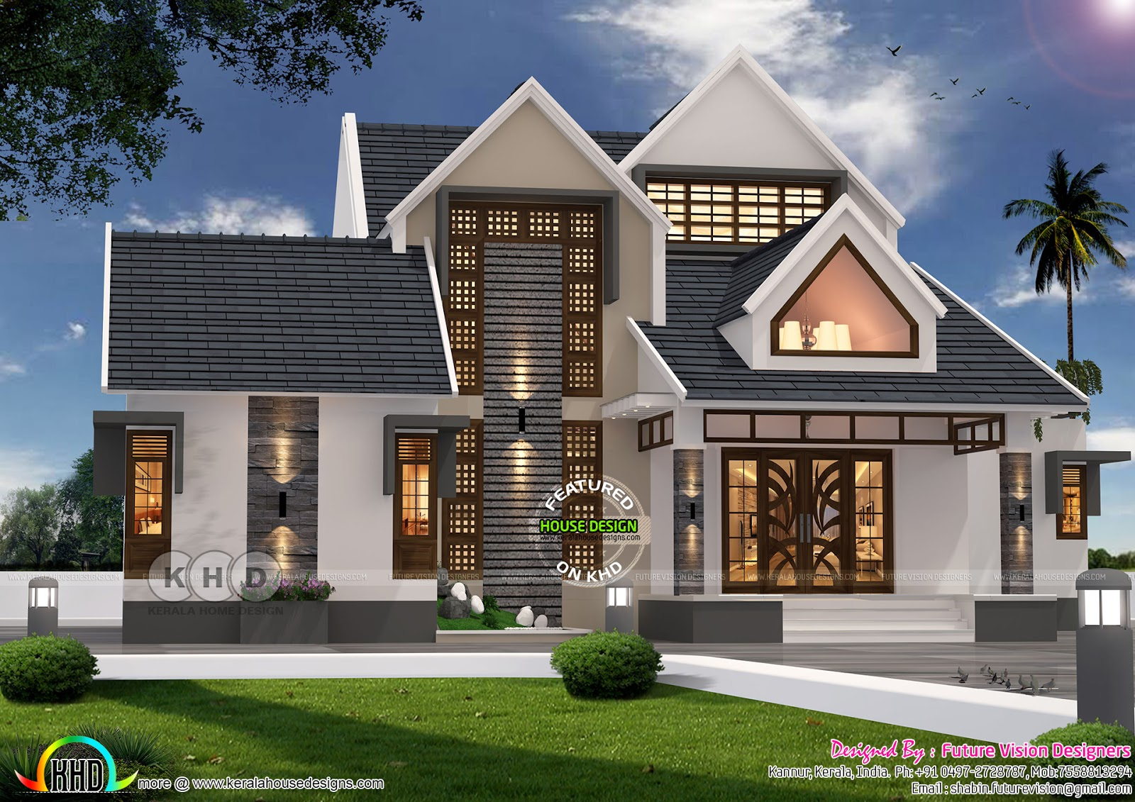 2541 square feet sloping roof house plan kerala home design and rh keralahousedesigns com