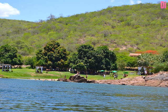 O Cangaço Eco Parque visto da lancha