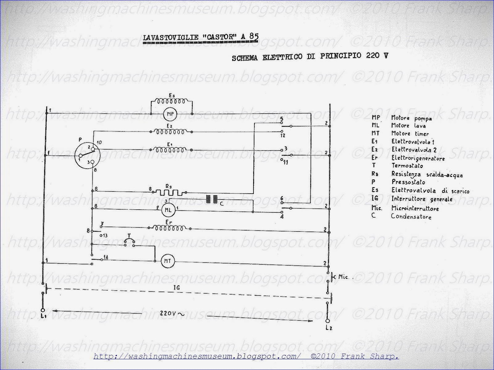 Washer Rama Museum Castor Mod A85 Schematic Diagram