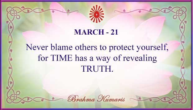 Thought For The Day March 21