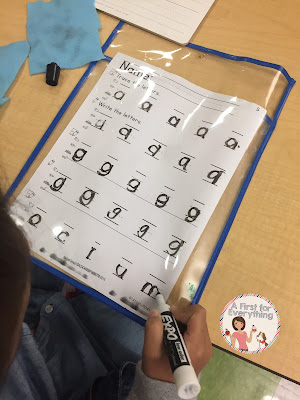 How to Use Literacy Stations for AM Work. Handwriting Station