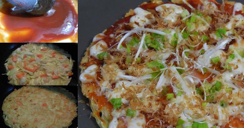 สูตรทำพิซซ่าญี่ปุ่น (Okonomiyaki)