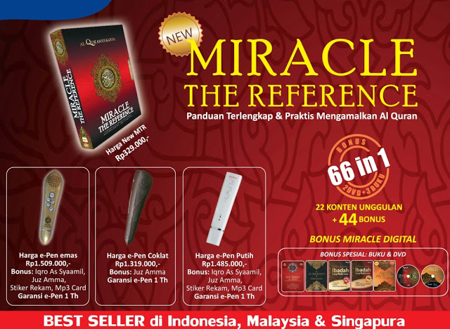 3 Jenis e-pen Pendamping Alquran Miracle The Reference