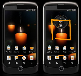 Orange Gestures and 'smart' Live Wallpapers for its Android smartphones announced