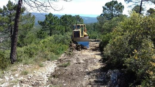 El Consell repara 695 quilòmetres de pistes forestals danyades pels temporals de pluja i neu de 2016 i 2017