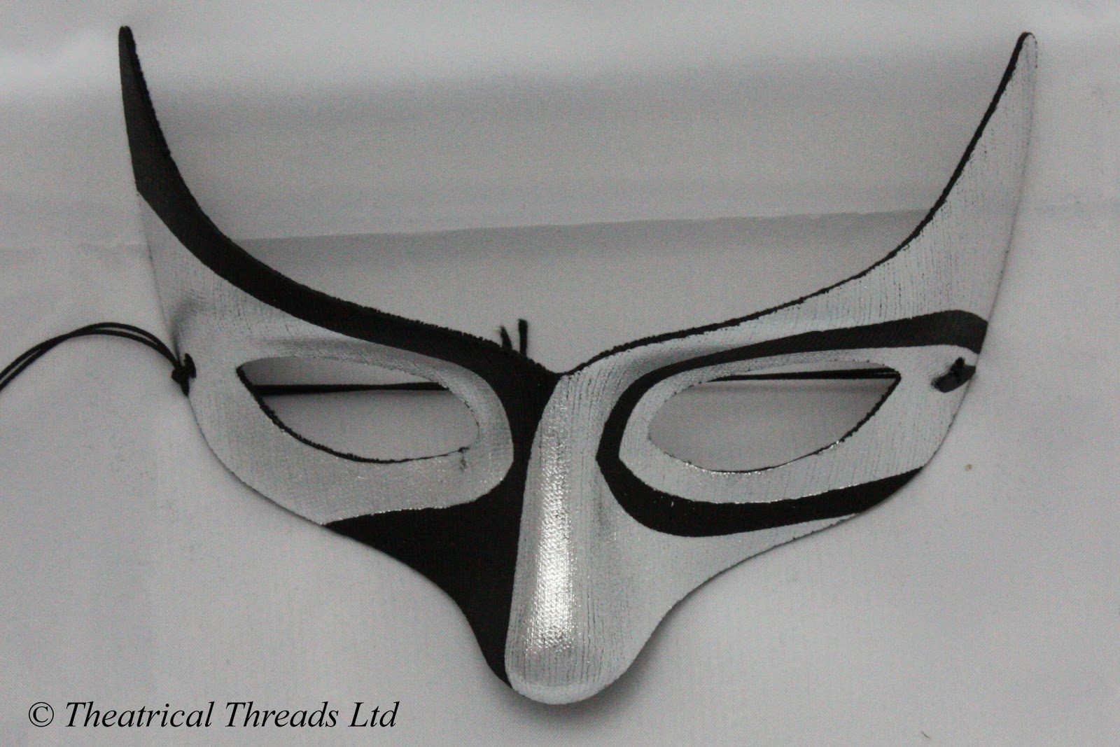 af04ec6b6242 Macumba Black & Silver Masquerade Ball Mask from Theatrical Threads Ltd