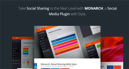 Monarch v1.3.3 - Social Sharing Plugin