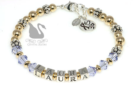 Laura's Custom Epilepsy Awareness Bracelet (B073-EP)