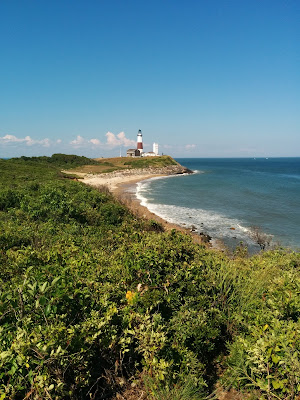 The historic Montauk Lighthouse on Montauk Point, Long Island NY was built in 1791 and is still operational today