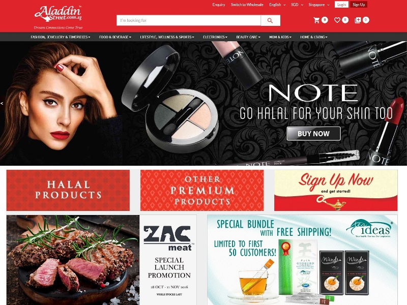 singapore online shopping aladdinstreet halal food muslim cosmetics