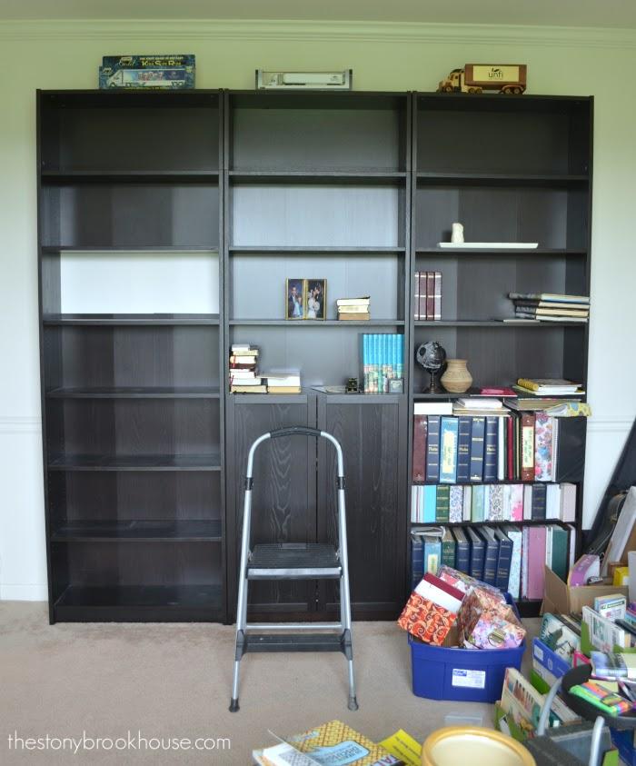 Sort of empty bookcases
