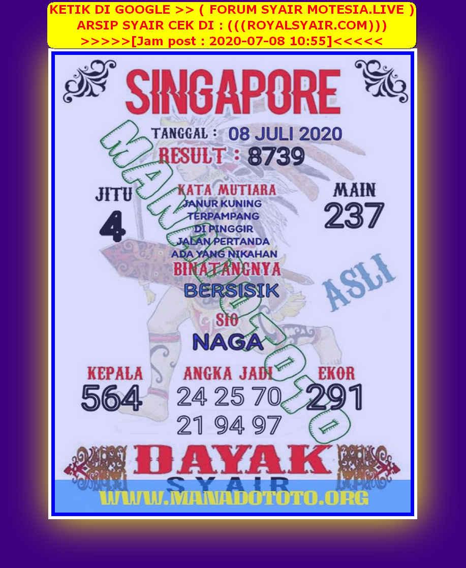 Kode syair Singapore Rabu 8 Juli 2020 38