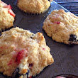Strawberry Muffins (with a little blueberry too!)