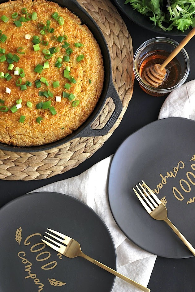 Buttermilk Cornbread w/ Honey Butter & Scallions | Savor Home