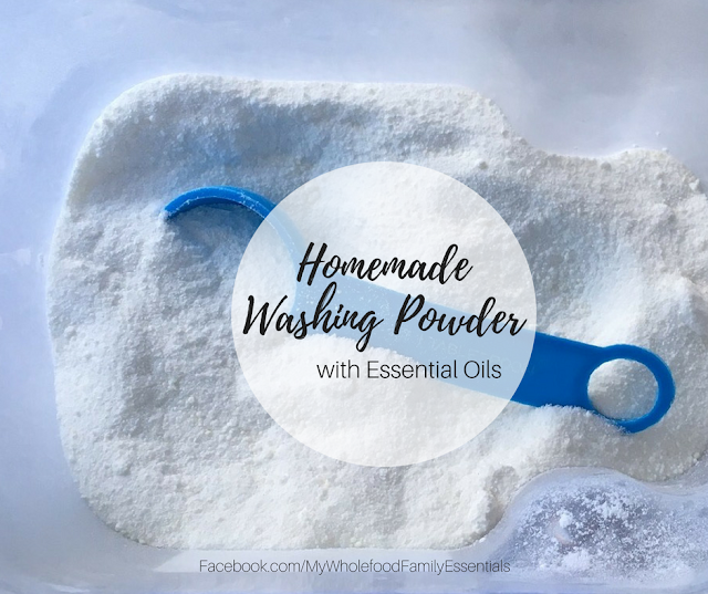 DIY Homemade Washing Powder with Essential Oils - www.mywholefoodfamily.com