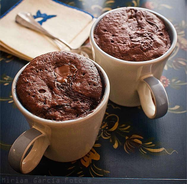 recetas de mug cake o bizcochos en vaso