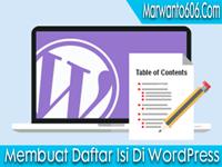 Cara Membuat Daftar Isi Di WordPress Selfhost