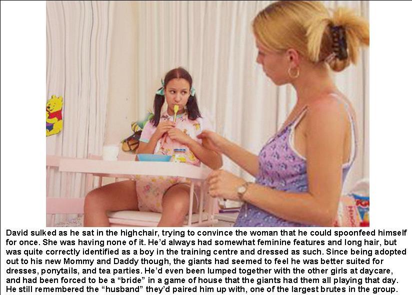 Girl teen captions diaper
