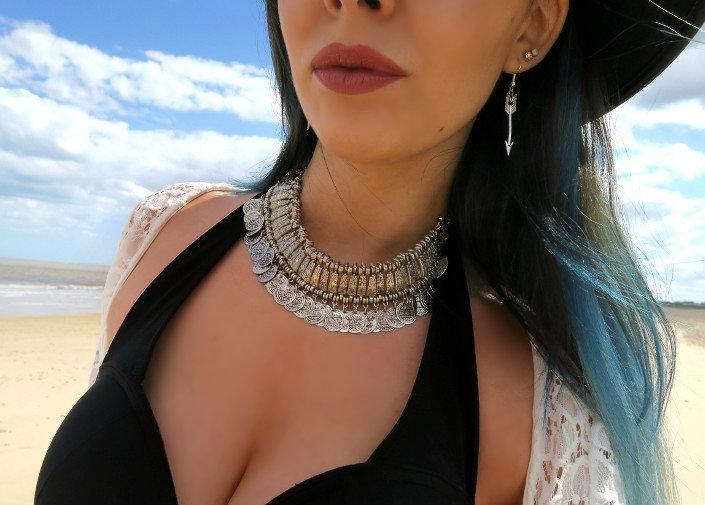 silver boho coin necklace jewellery blogger @ hayleyeszti