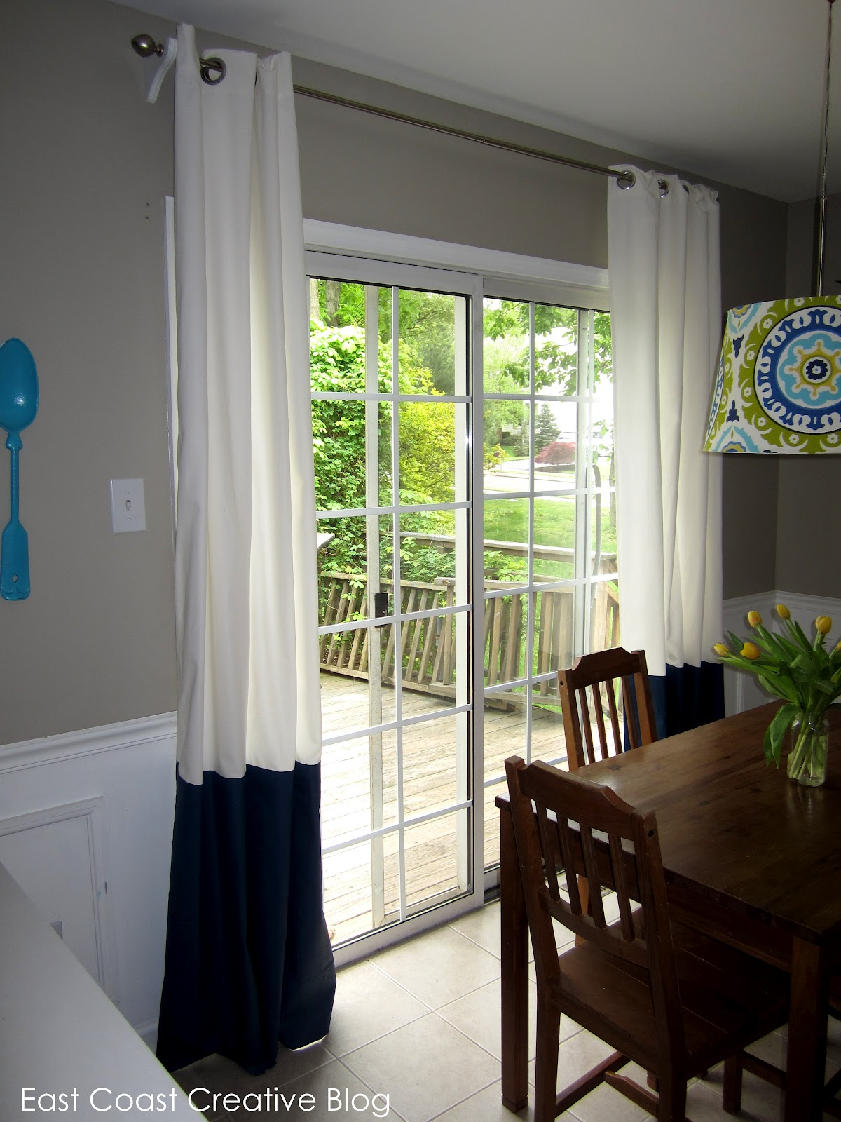 17 Images About Build Ikea Panel Curtain On Pinterest: The Curtain Solution {DIY Painted Curtains}
