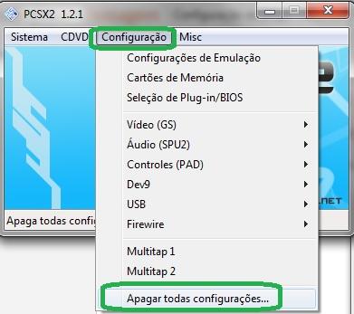 Melhor configuração do plugin Video do PCSX2 do PS2