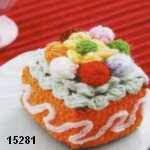 patron gratis pastel amigurumi, free amigurumi pattern pie