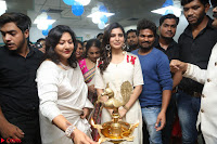 Samantha Ruth Prabhu Smiling Beauty in White Dress Launches VCare Clinic 15 June 2017 061.JPG