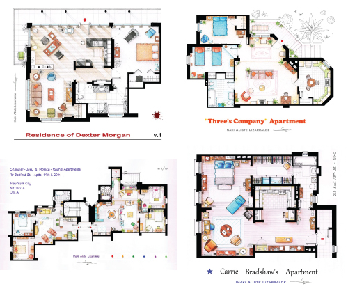 Photo Frasier Crane Apartment Floor Plan Images