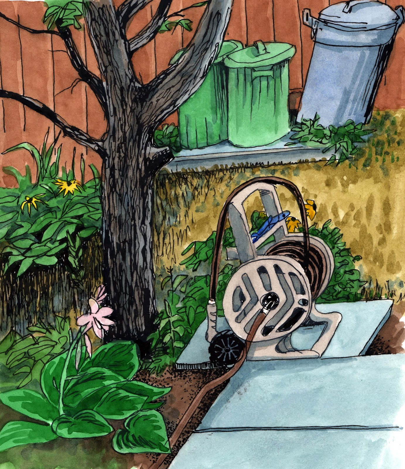 michael u0027s scroll the garden hose le tuyau d u0027arrosage