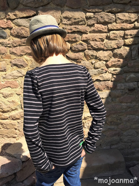 Streifenshirt, pedilu, breton shirt, u-boot, schwarz, grau, taupe, stoffbüro