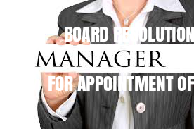 Board-Resolution-For-Appointment-of-Manager