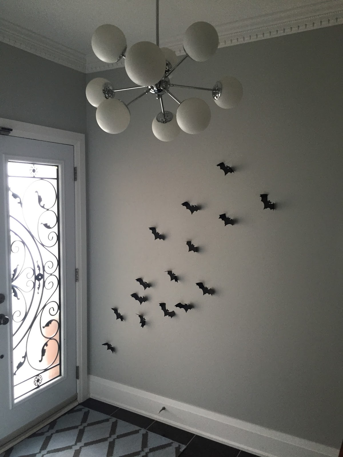 Such A Simple And Great Way To Tempity Decorate Walls In Your Home Take Look Below For Photos Of My Foyer Wall With The Bats