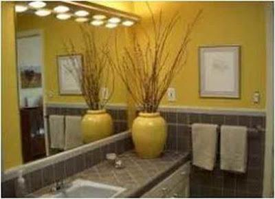 Trik Bathroom Ideas In Yellow Elegant