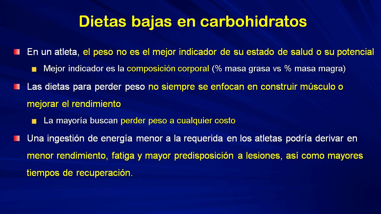 dieta baja carbohidratos dolor muscular