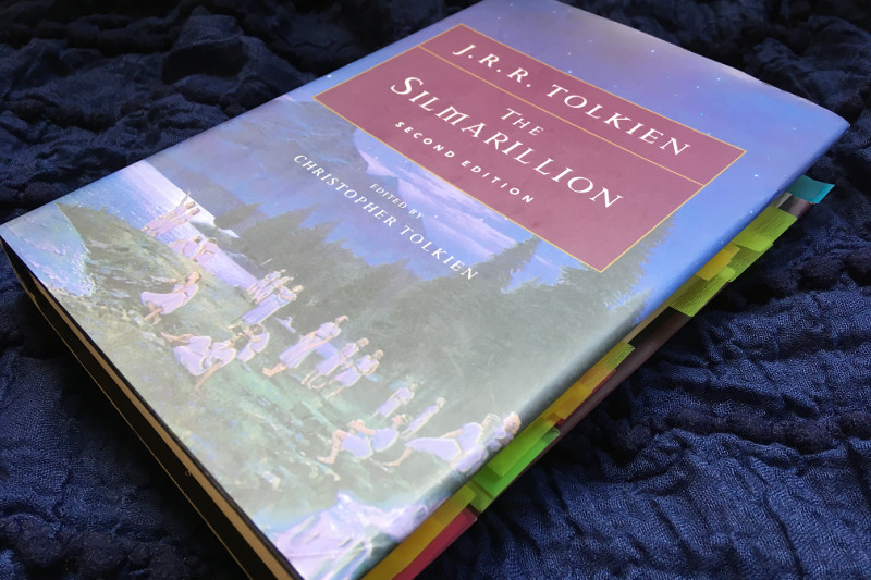 The Silmarillion by J.R.R. Tolkien Hardback Book | Lydia Sanders #TwistyMustacheReviews