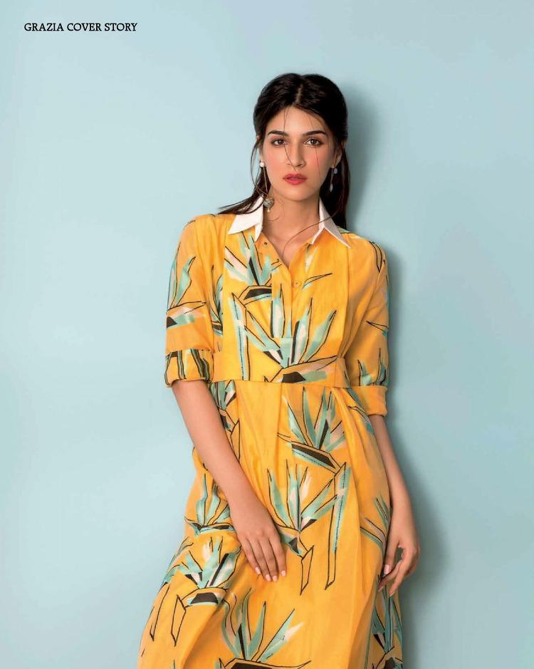 arts cross stitch actress model kriti sanon grazia india