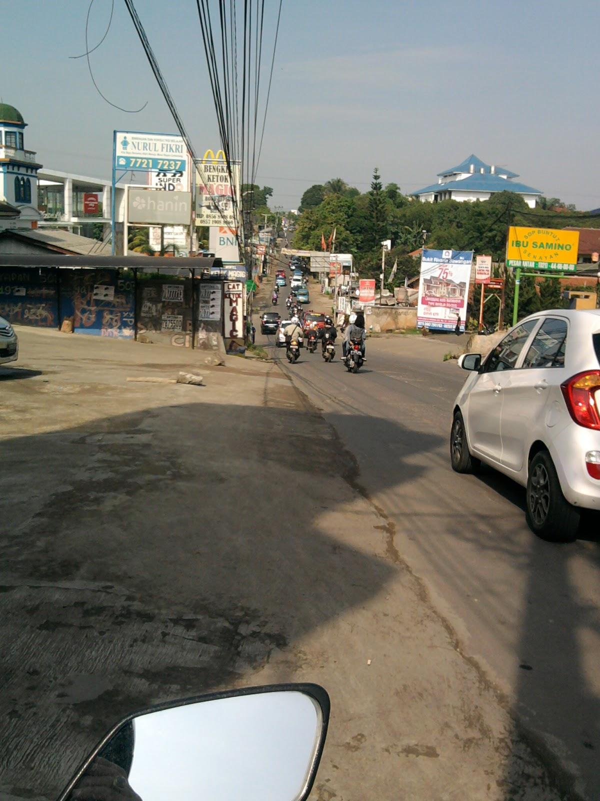 Depok Expose Jalan Raya Sawangan Depok