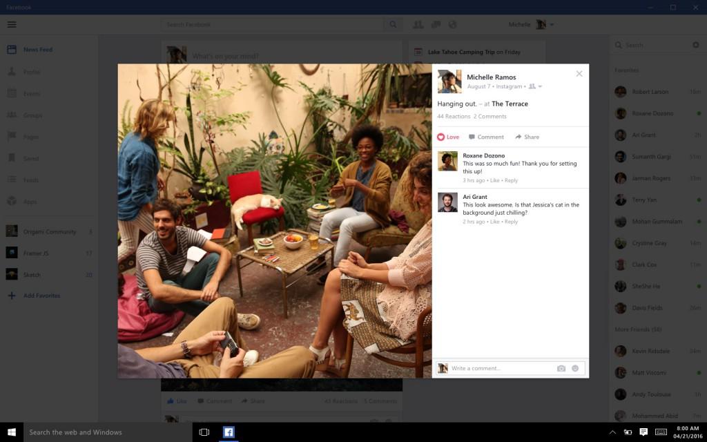 Facebook, Messenger e Instagram per Windows 10 disponibili HTNovo