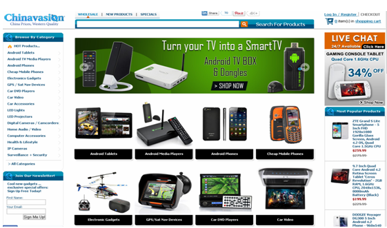 chinavasion التسوق عبر الانترنت شرح موقع للشراء للتسوق