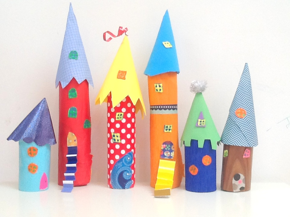 Paper Tube Kids Craft Castle Get Crafty