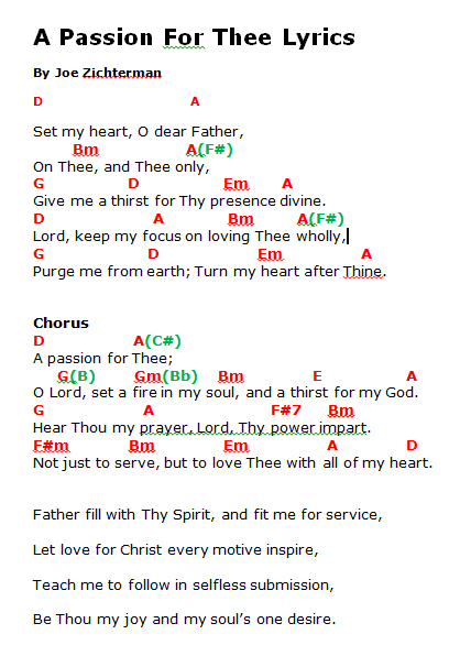 A Passion for thee Lyrics And Chords   HymnsLyricsAndChords