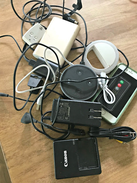 Decluttering drawers -- electronic stuff