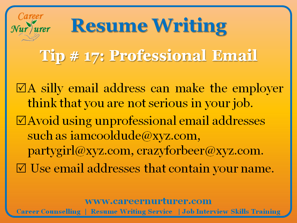 Guidelines for writing a Professional Resume / CV  Career Counselling  Aptitude Test Centre