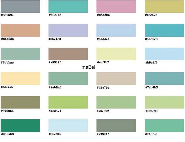 Armonia de los colores - combinacion ~ Pasteles de colores